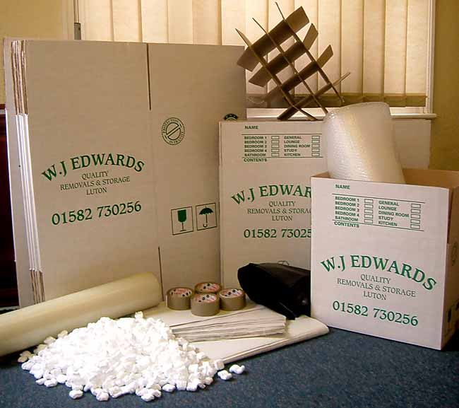 WJ Edwards packing boxes